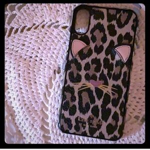 Kate Spade Leopard Cat IPhone cover iPhone X or 8